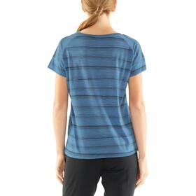 Icebreaker Via SS Scoop Shirt Women thunder heather/black/scratch stripe